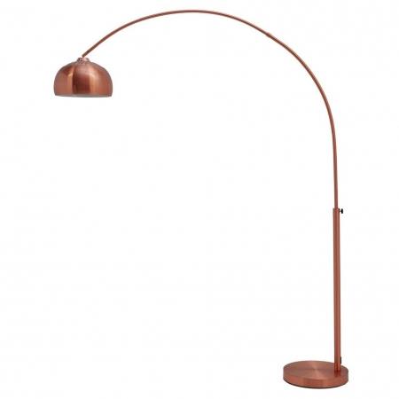 Bogenlampe LUXX Kupfer glänzend mit Kupferfuß 170-210cm Höhe - 2