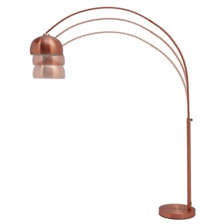 Bogenlampe LUXX Kupfer glänzend mit Kupferfuß 170-210cm Höhe - 3