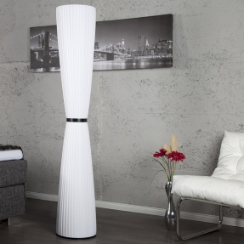 XL Stehlampe LOOP Weiß Rund 165cm Höhe - 1