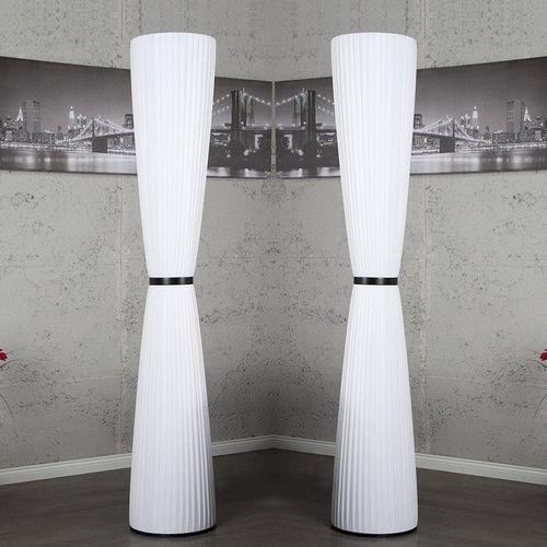 XL Stehlampe LOOP Weiß Rund 165cm Höhe - 2