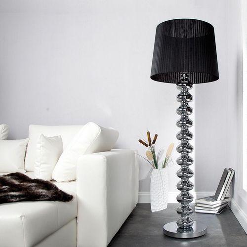 XL Stehlampe DIVA Chrom & schwarzem Organza Schirm 155cm Höhe - 1