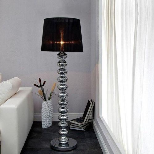 XL Stehlampe DIVA Chrom & schwarzem Organza Schirm 155cm Höhe - 2