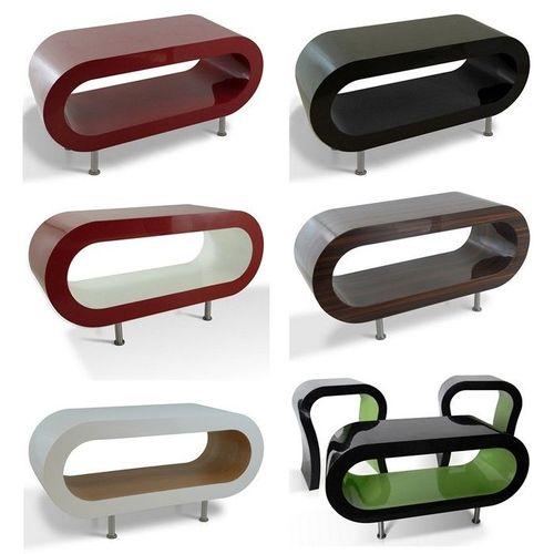 MADE in UK: Retro Lounge Couchtisch LEO 90cm mit Füßen in 24389 Farbkombinationen! - 2