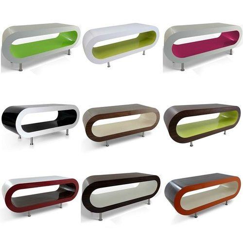 MADE in UK: Retro Lounge Couchtisch LEO 110cm mit Füßen in 24389 Farbkombinationen! - 1