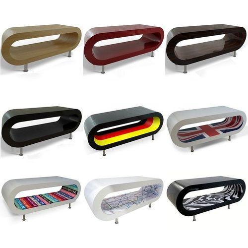 MADE in UK: Retro Lounge Couchtisch LEO 110cm mit Füßen in 24389 Farbkombinationen! - 2