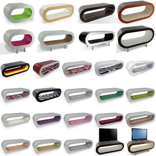 MADE in UK: Retro Lounge Couchtisch LEO 110cm mit Füßen in 24389 Farbkombinationen! - 3
