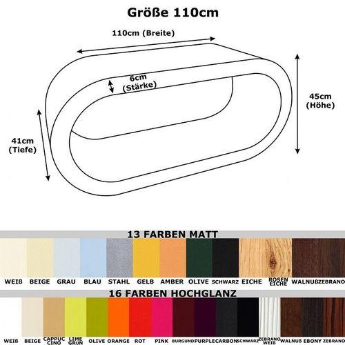 MADE in UK: Retro Lounge Couchtisch LEO 110cm XXL in 24389 Farbkombinationen! - 4