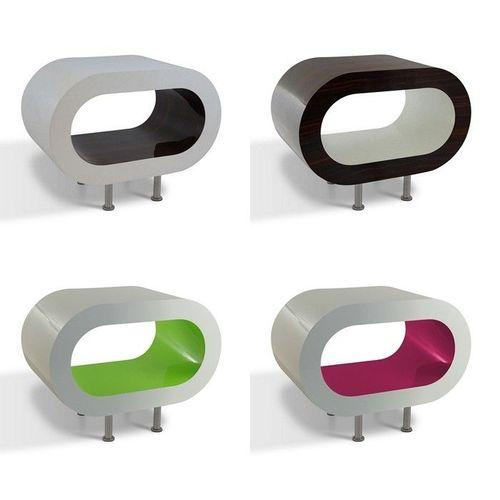 MADE in UK: Retro Lounge TV-Tisch LEO 60cm mit Füßen in 24389 Farbkombinationen! - 1