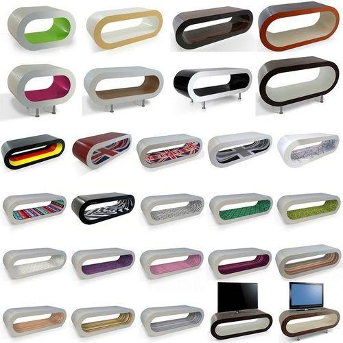 MADE in UK: Retro Lounge TV-Tisch LEO 60cm mit Füßen in 24389 Farbkombinationen! - 3