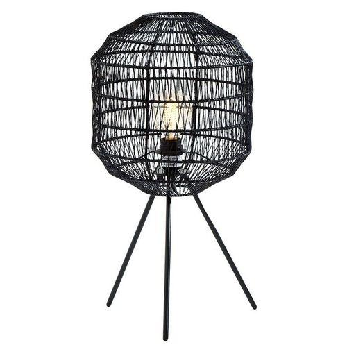 Tischlampe BLACKBIRD Schwarz aus geflochtenem Papier handgefertigt 57cm Höhe - 2