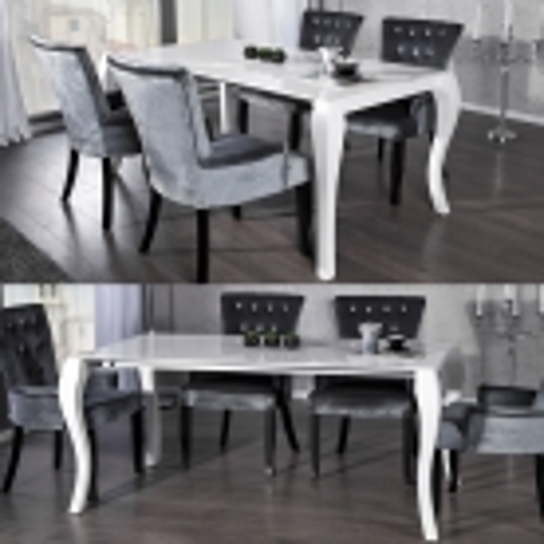Esstisch JOSEPHINA Weiß Hochglanz 170-230cm ausziehbar - 2
