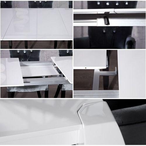 Esstisch JOSEPHINA Weiß Hochglanz 170-230cm ausziehbar - 3