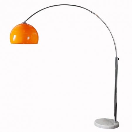 Bogenlampe LUXX Orange mit Marmorfuß Weiß 175-205cm Höhe - 2