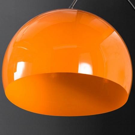 Bogenlampe LUXX Orange mit Marmorfuß Weiß 175-205cm Höhe - 3