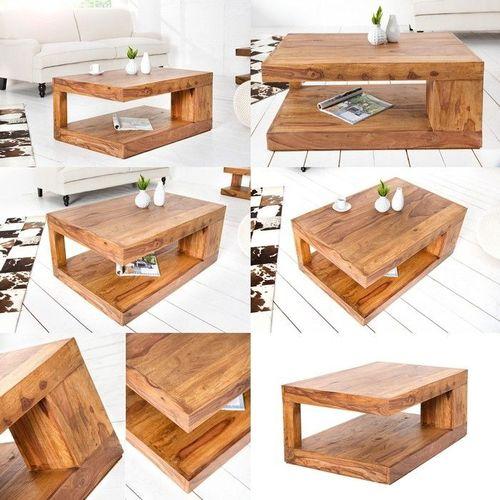 Couchtisch AGRA Sheesham massiv Holz gewachst 90cm x 60cm - 3