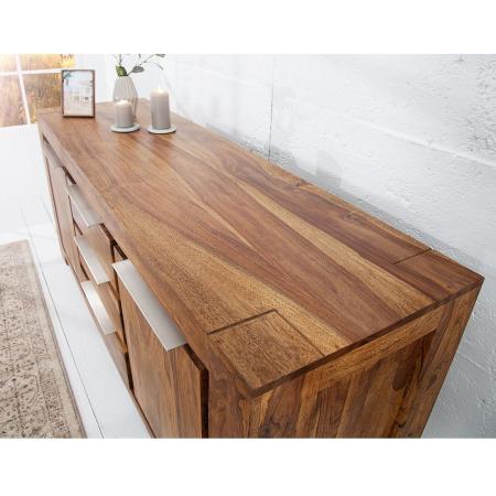 XXL Sideboard AGRA Sheesham massiv Holz gewachst 175cm - 3