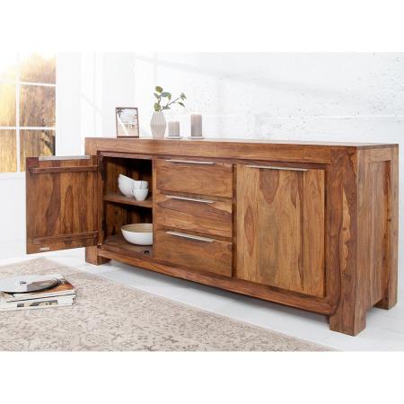 XXL Sideboard AGRA Sheesham massiv Holz gewachst 175cm - 4