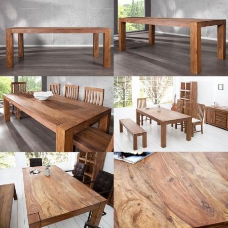 Esstisch SALEM Sheesham massiv Holz gewachst 200cm - 3