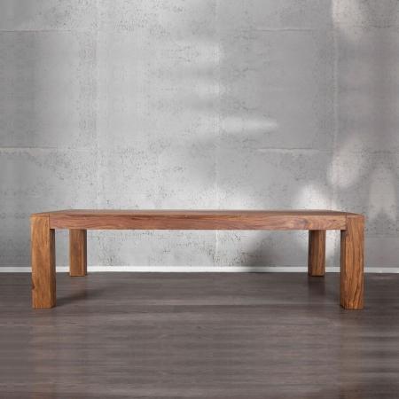 Sitzbank SALEM Sheesham massiv Holz gewachst 140cm - 1