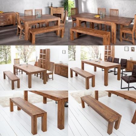 Sitzbank SALEM Sheesham massiv Holz gewachst 160cm - 3