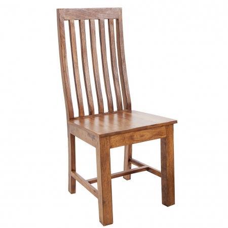 Stuhl SALEM Sheesham massiv Holz gewachst - Komplett montiert! - 1