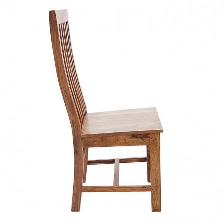 Stuhl SALEM Sheesham massiv Holz gewachst - Komplett montiert! - 2