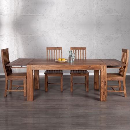 Stuhl SALEM Sheesham massiv Holz gewachst - Komplett montiert! - 4