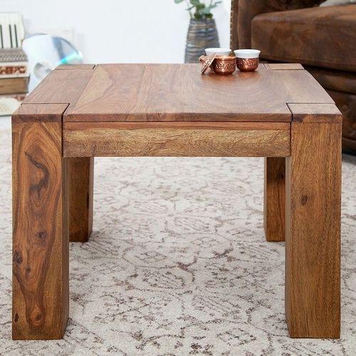 Couchtisch SALEM Sheesham massiv Holz gewachst 60cm x 60cm - 1