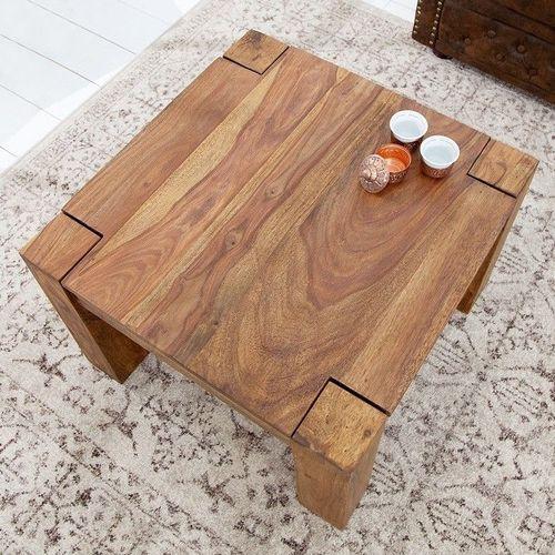 Couchtisch SALEM Sheesham massiv Holz gewachst 60cm x 60cm - 2