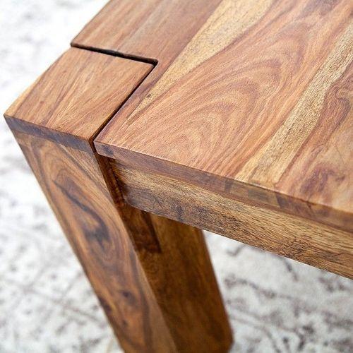 Couchtisch SALEM Sheesham massiv Holz gewachst 60cm x 60cm - 3
