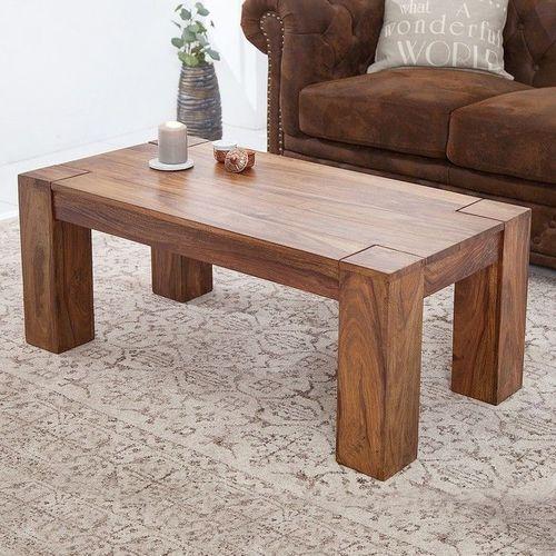 Couchtisch SALEM Sheesham massiv Holz gewachst 100cm x 50cm - 1