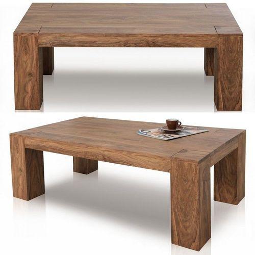 Couchtisch SALEM Sheesham massiv Holz gewachst 100cm x 50cm - 2