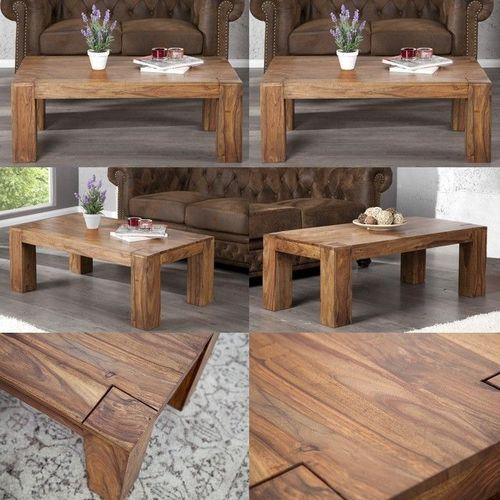 Couchtisch SALEM Sheesham massiv Holz gewachst 100cm x 50cm - 3