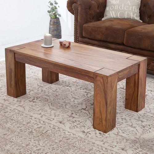 Couchtisch SALEM Sheesham massiv Holz gewachst 100cm x 50cm - 7