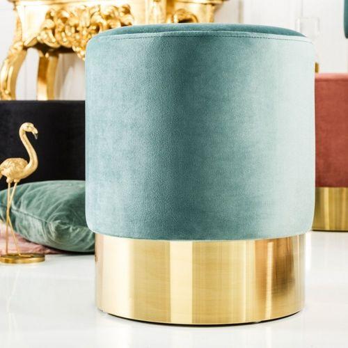 Tischlampe MARE Blau mit Leinenschirm Weiß aus Keramik handgefertigt 60cm Höhe - 1