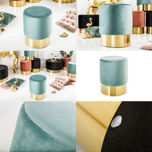 Tischlampe MARE Blau mit Leinenschirm Weiß aus Keramik handgefertigt 60cm Höhe - 3