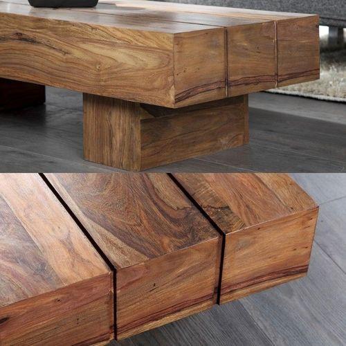 Couchtisch SALEM Sheesham massiv Holz gewachst 100cm x 45cm - 2