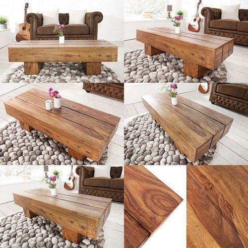Couchtisch SALEM Sheesham massiv Holz gewachst 100cm x 45cm - 3