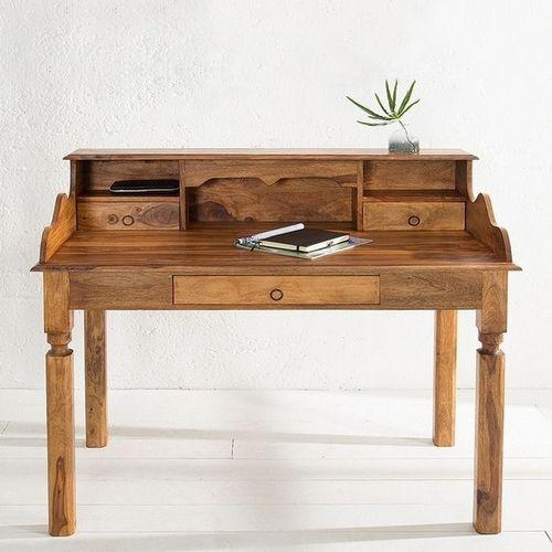Sekretär & Schreibtisch SALEM Sheesham massiv Holz gewachst 115cm x 55cm - 2