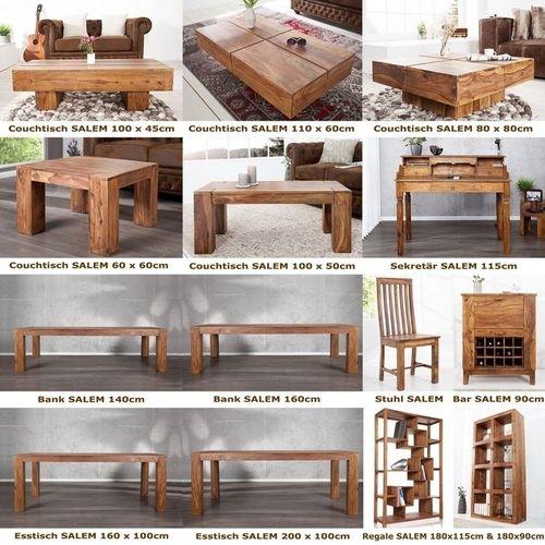 Sekretär & Schreibtisch SALEM Sheesham massiv Holz gewachst 115cm x 55cm - 7