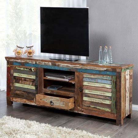 TV-Tisch BORNEO aus recyceltem Teakholz massiv 150cm - 1