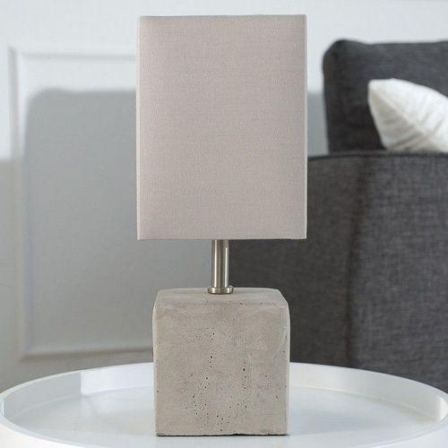 Tischlampe URBANO Beige & Grau mit Fußsockel aus Feinbeton 35cm Höhe - 2