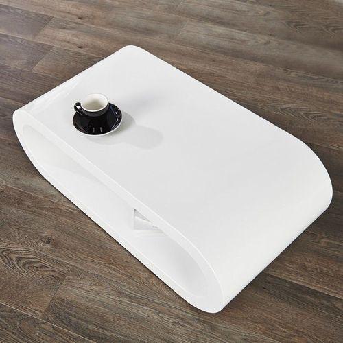 Couchtisch ELIPTICA Weiß Hochglanz 90cm - 2