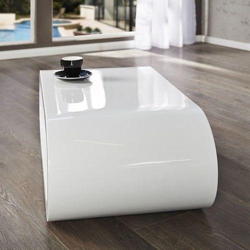 Couchtisch ELIPTICA Weiß Hochglanz 90cm - 3