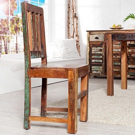 Stuhl BORNEO aus recyceltem Teakholz massiv - Komplett montiert! - 1
