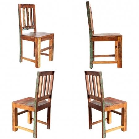 Stuhl BORNEO aus recyceltem Teakholz massiv - Komplett montiert! - 2