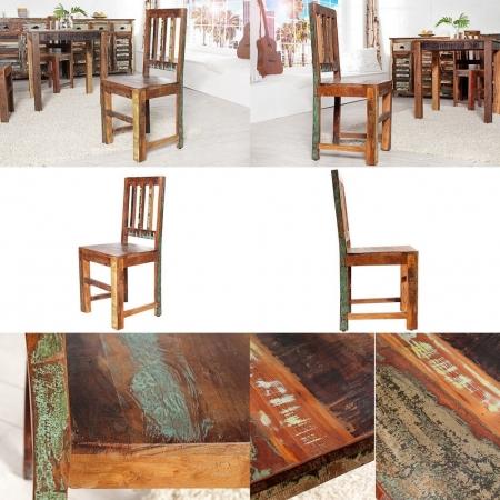 Stuhl BORNEO aus recyceltem Teakholz massiv - Komplett montiert! - 3