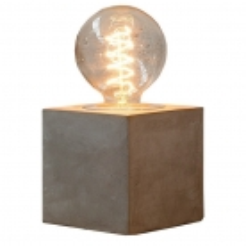 Tischlampe URBANO Grau aus einem Block Feinbeton 12cm Höhe - 2