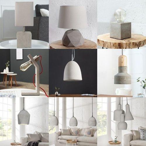 Tischlampe URBANO Grau aus einem Block Feinbeton 12cm Höhe - 4