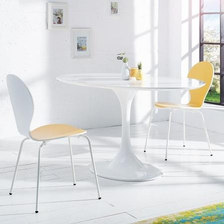 Stuhl JACOBSEN zweifarbig Weiß-Gelb - 1